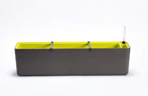 Samozavlažovací truhlík Plastia BERBERIS 80 - komplet set, antracitovo-zelený