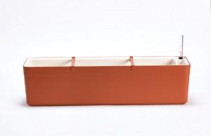 Samozavlažovací truhlík Plastia BERBERIS 80 - komplet set, terakota-béžový