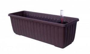 Samozavlažovací truhlík Plastia SIESTA LUX 100 - komplet set, čokoládový
