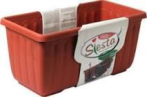 Samozavlažovací truhlík Plastia SIESTA LUX 40 - komplet set, terakotový