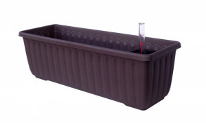 Samozavlažovací truhlík Plastia SIESTA LUX 80 - komplet set, čokoládový