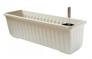 Samozavlažovací truhlík Plastia SIESTA LUX 80 - komplet set, slonová kost