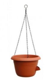 Samozavlažovací závěsná žardina Plastia SIESTA, průměr 25 cm, terakotová
