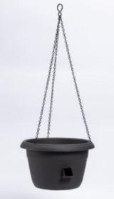 Samozavlažovací závěsná žardina Plastia SIESTA, průměr 35 cm, antracitová