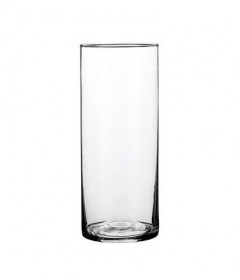 Skleněná váza Mica CARLY, rozměr 12 x 30 cm, čirá