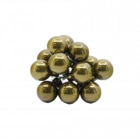 Skleněné dekorační kuličky, s drátkem, svazek 12ks, průměr 2cm, zelená glazura