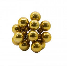 Skleněné dekorační kuličky, s drátkem, svazek 12ks, průměr 2cm, zlatá glazura