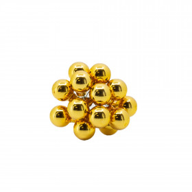 Skleněné dekorační kuličky, s drátkem, svazek 12ks, průměr 2cm, zlatá lesk
