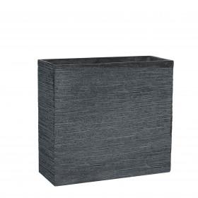 Sklolaminátový truhlík Mica STREAM 55, tmavě šedý