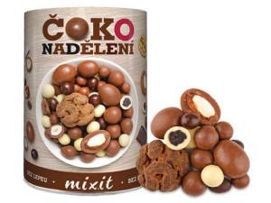 Směs ořechů a ovoce v čokoládě, Mixit ČOKOLÁDOVÉ NADĚLENÍ, dóza, 450 g