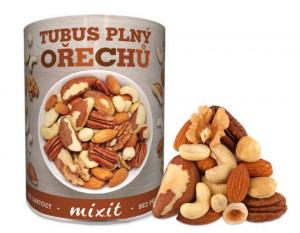 Směs ořechů, Mixit TUBUS PLNÝ OŘECHŮ, dóza, 400 g