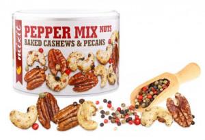 Směs ořechů se solí a pepřem, Mixit OŘÍŠKY Z PECE, dóza, 150 g