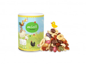 Směs sušeného ovoce a ořechů v čokoládě, Mixit VELI-KOKO-NOČNÍ NADĚLENÍ, dóza, 375 g