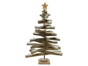 Strom na podstavci dekor hvězda klacky zasněžený