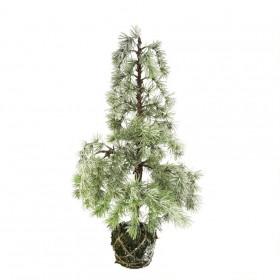 Stromek umělý cedr v mechu zasněžený