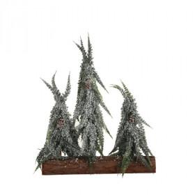 Stromek umělý trojice na kládě zasněžený