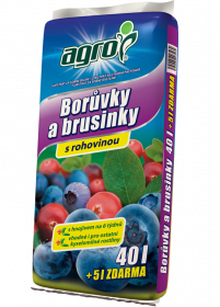Substrát Agro pro BORŮVKY a BRUSINKY, balení 40 l + 5 l zdarma
