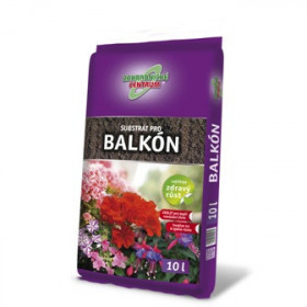 Substrát pro balkónové rostliny, balení 10 l