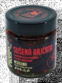 Sušená rajčata v olivovém oleji s chilli a bylinkami, Hradecké delikatesy, 160 g