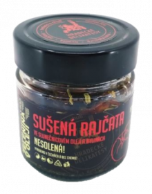 Sušená rajčata ve slunečnicovém oleji s bylinkami, Hradecké delikatesy, 160 g