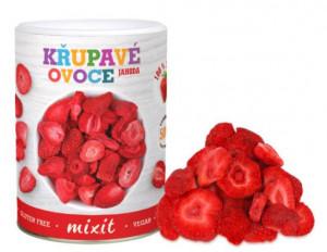 Sušené křupavé ovoce, Mixit JAHODA, dóza, 50 g