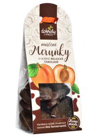 Sušené ovoce v hořké belgické čokoládě, Dobroty z přírody Meruňky, 100 g