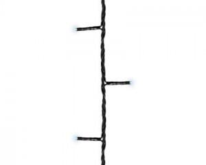 Světelný řetěz, venkovní, LED, studená bílá, černý kabel, délka 36m