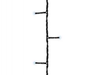 Světelný řetěz, venkovní, LED, studená bílá, černý kabel, délka 6m