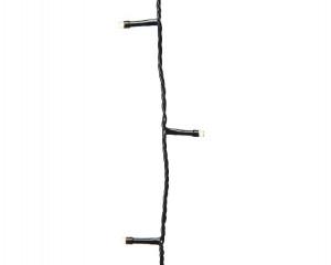 Světelný řetěz, venkovní, LED, teplá bílá, černý kabel, délka 27m