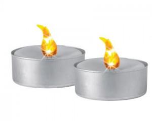 Svíčka čajová, elektrická, LED, teplá bílá, sada 2ks