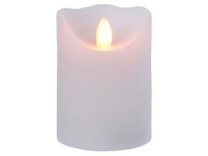 Svíčka, elektrická, LED, teplá bílá, na baterie, bílá