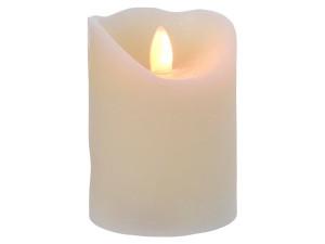 Svíčka, elektrická, LED, teplá bílá, na baterie, krémová