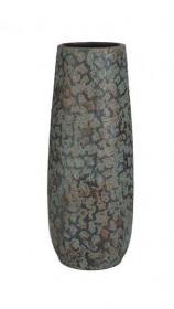 Terakotová váza Mica CLEMENTE ANTIK, průměr 21.5 cm, měděná