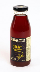 Tradiční ovocný sirup, Hradecké delikatesy Šípkový s rumem, 500 ml