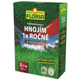 Trávníkové hnojivo Floria HNOJÍM 1X ROČNĚ, balení 2.5 kg