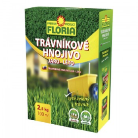 Trávníkové hnojivo na jaro a léto, Floria, balení 2.5 kg