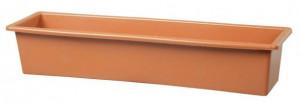 Truhlík GLORIA 50 - hladký, terakotový
