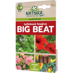 Tyčinkové hnojivo Natura BIG BEAT, balení 12 ks