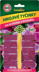 Tyčinkové hnojivo pro ORCHIDEJE a BROMÉLIE, Forestina, balení 30 ks