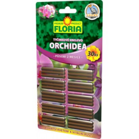 Tyčinkové hnojivo pro ORCHIDEJE, Floria, balení 30 ks