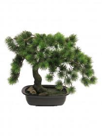 Umělá bonsaj borovice v květináči, výška 43 cm