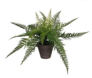 Umělá kapradina Mica, v květináči, zelená, výška 38 cm
