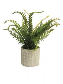 Umělá kapradina, v květináči, zelená, výška 32 cm