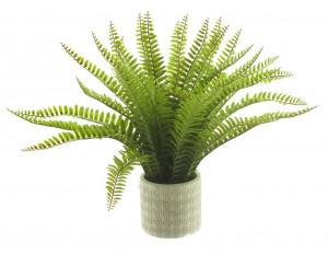 Umělá kapradina, v květináči, zelená, výška 37 cm