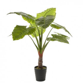 Umělá kolokázie Mica, v květináči, zelená, výška 130 cm