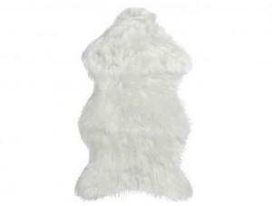 Umělá kožešina, jehně, 55x90cm, bílá