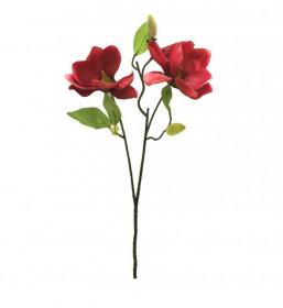 Umělá magnolie Stardust, větev, tmavě růžová, délka 60 cm