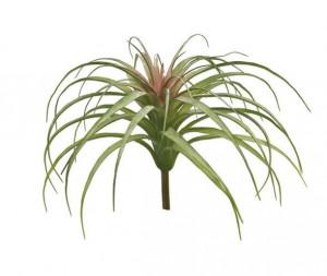 Umělá tilandsie Hutan, trs, zeleno - červená, výška 26 cm