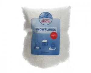 Umělý dekorační sníh, sypký, hrubý, 100g, bílá