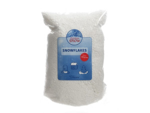 Umělý dekorační sníh, sypký, hrubý, 200g, bílá